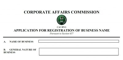 Cost of Business Names Registration Reduces by 50%